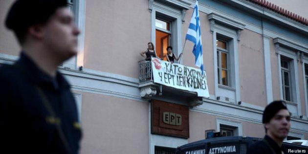 Grèce: Grève générale jeudi, après la fermeture de la télévision publique