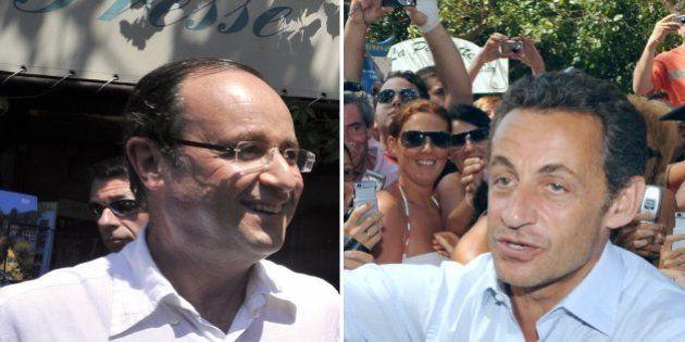 Vacances: François Hollande joue la discrétion face à un Nicolas Sarkozy très