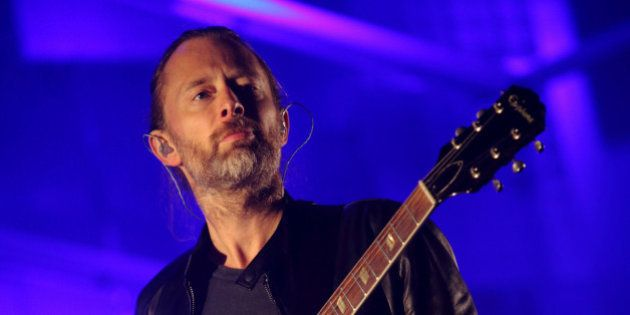 FILE - In this Oct. 6, 2013, file photo, Thom Yorke performs at the 2013 Austin City Limits Music Festival...