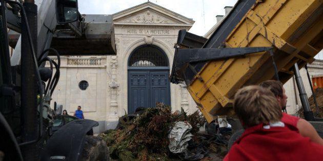Après une manifestation d'agriculteurs à Caen, les dégâts estimés à au moins 200.000