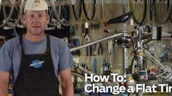 Lance Armstrong vous montre comment changer un pneu