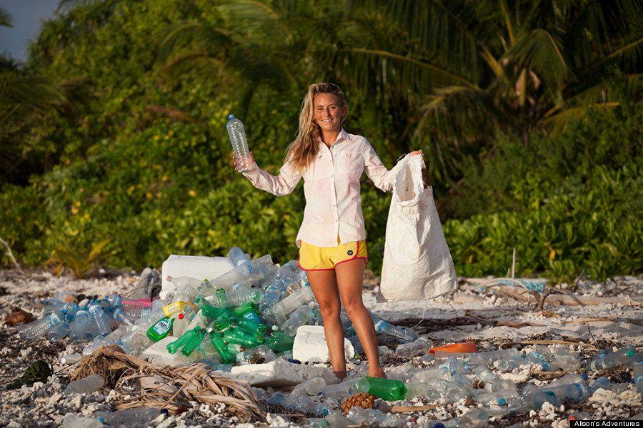 PHOTOS. La pollution plastique aux Maldives dévoilée par une aventurière de la