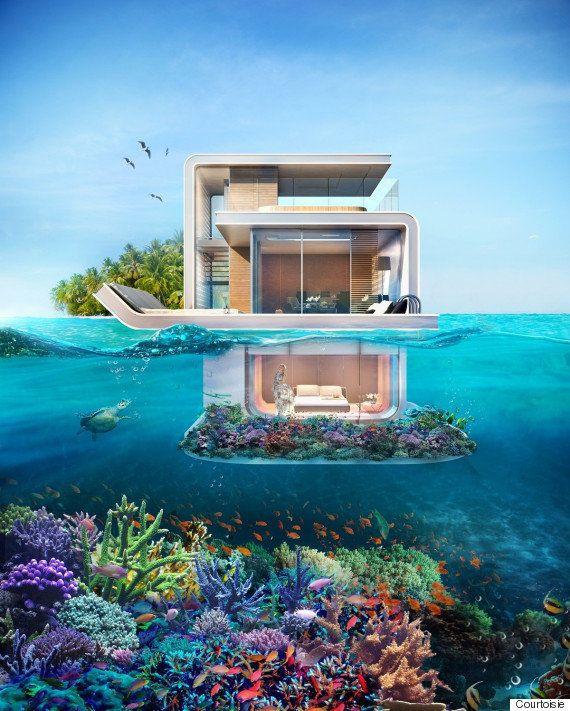 PHOTOS. La maison à moitié sous l'eau