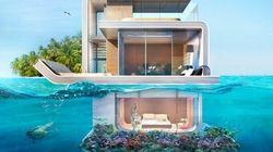 La maison à moitié sous l'eau est devenue