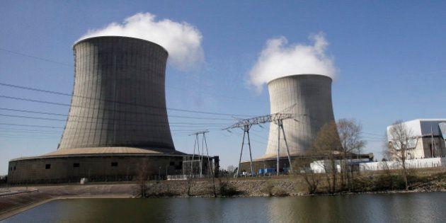 A nuclear power plant of EDF (Electricite de France) is seen along the Loire river in Saint-Laurent-des-Eaux,...