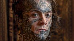 Portraits de tatoués (vraiment) de la tête aux