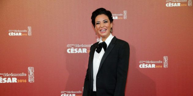Moroccan actress Loubna Abidar arrives at the 41th French Cesar Awards Ceremony, in Paris, Friday Feb....