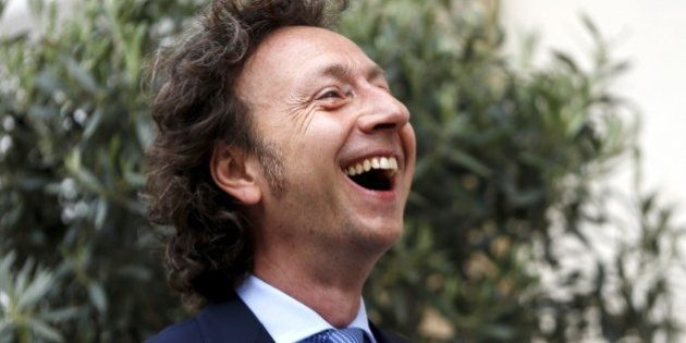 French TV host Stephane Bern smiles as he arrives to attend the wedding ceremony of Luxembourg's Prime...