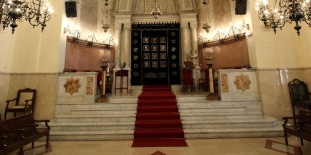 An inside view of the synagogue in Marseille, southern France, Wednesday, Jan. 13, 2016. A leading Jewish...