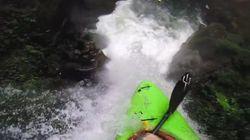 Ce kayakiste est-il fou