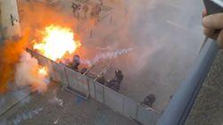 Les images des débordements en marge des manifestations à Rennes, Nantes et