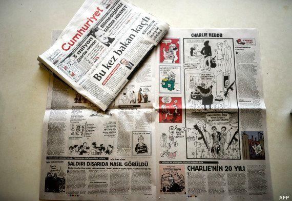 Prison pour deux journalistes turcs qui avaient publié la une de Charlie Hebdo post-attentat du 7