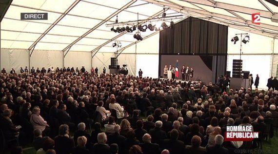 Hollande a présidé la cérémonie d'hommage aux victimes de l'accident de