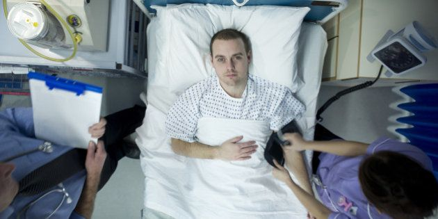 young man in hospital