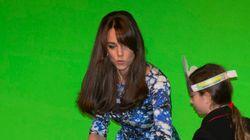 Kate Middleton filmée devant un fond vert, ça donne