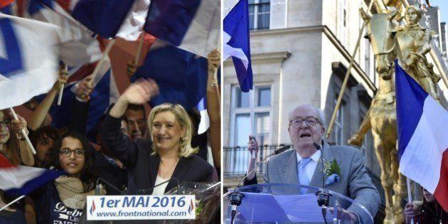 Marine Le Pen marche vers 2017, avec un