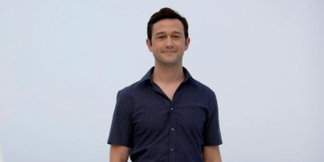 Actor Joseph Gordon-Levitt poses for the photographers to promote his upcoming