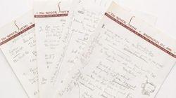 Le manuscrit de Dylan adjugé