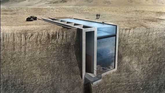 PHOTOS. Cette maison incrustée à flanc de falaise va vraiment être