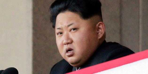 FILE - In this Oct. 10, 2015, file photo, North Korean leader Kim Jong Un delivers remarks at a military...
