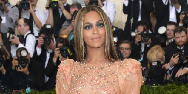 Beyonce Knowles arrives at The Metropolitan Museum of Art Costume Institute Benefit Gala, celebrating...