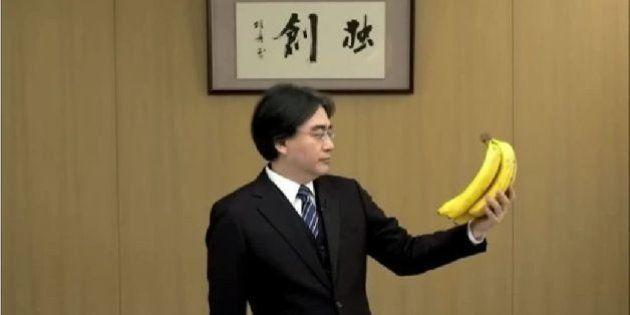 Le dirigeant de Nintendo reçoit des bananes par centaines sur