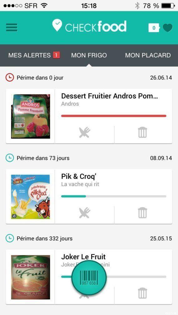 Gaspillage alimentaire : Checkfood, l'application qui alerte sur les dates de