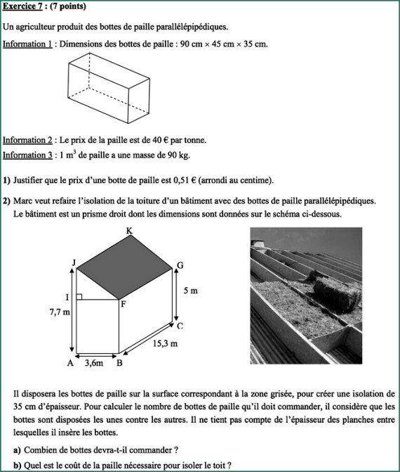 Brevet de mathématiques 2014 : l'exercice 7 déconcerte des