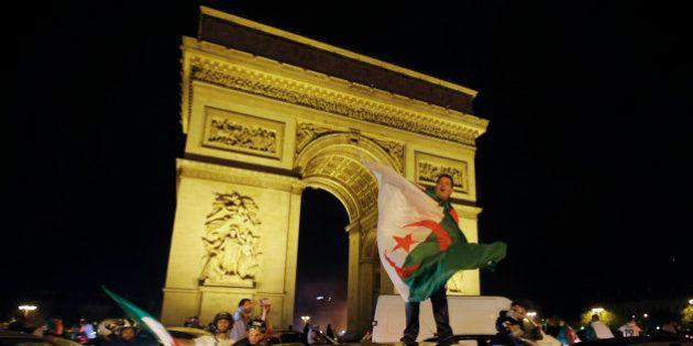 PHOTOS. Qualification de l'Algérie au Mondial: liesse et incidents en
