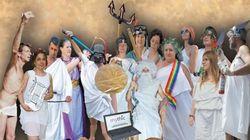 Déguisés en divinité de l'Antiquité au nom du latin et du