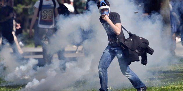 Un policier blessé à coups de barre de fer à Nantes pendant une manifestation anti-loi