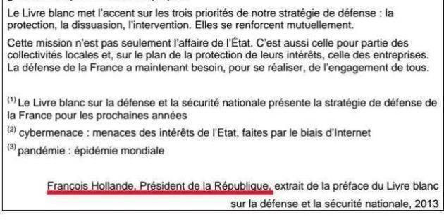 Sujets brevet 2014: Hollande à l'honneur avec un extrait du Livre blanc sur la