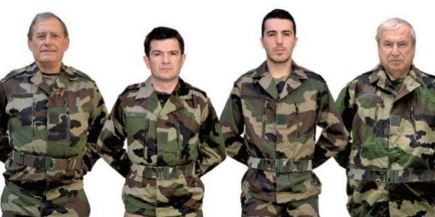 Benoist Apparu en treillis militaire pour défendre