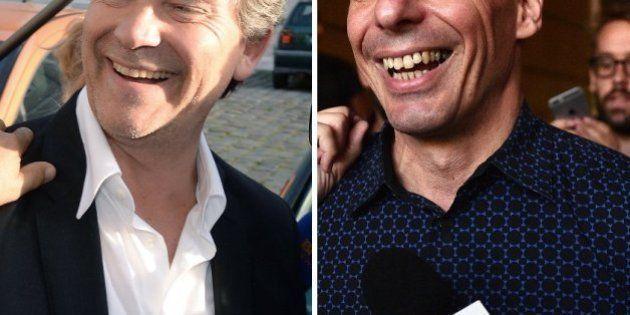 Arnaud Montebourg reçoit Yanis Varoufakis à Frangy pour un duo sur