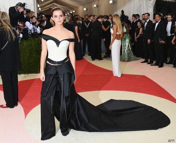 Emma Watson, Lupita Nyong'o et Margot Robbie portaient des robes en plastique recyclé au Met gala
