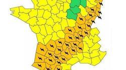 32 départements placés en alerte orange aux