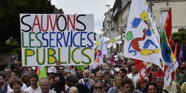 Guéret: manifestation nationale pour la défense du service