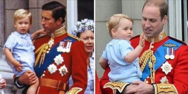 Royal baby: le prince George prend la pose comme son père le prince William il y a 31 ans, lors d'une...