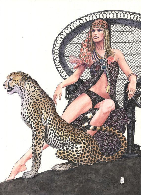Les hommages sexy du dessinateur Milo Manara à Brigitte