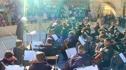 Un concert symphonique dans la cité antique de Palmyre en