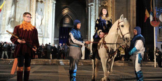 Emmanuel Macron à Orléans pour honorer une Jeanne d'Arc récupérée à toutes les
