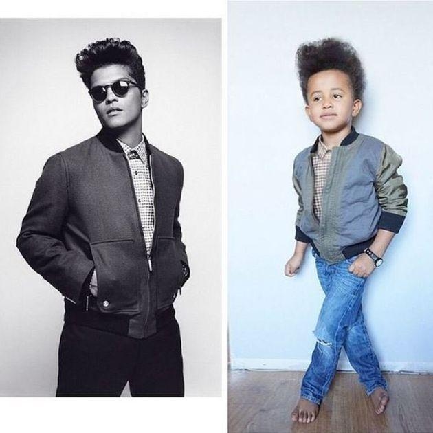 PHOTOS. À 5 ans, Alexander Yan copie à la perfection le style de célébrités et de designers de