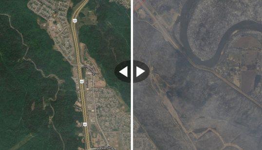 Les images satellites avant/après le gigantesque incendie à Fort