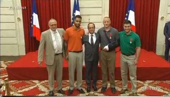 Thalys: remise de la Légion d'honneur aux