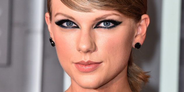 Taylor Swift arrives at the MTV Video Music Awards at the Microsoft Theater on Sunday, Aug. 30, 2015,...