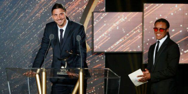 Zlatan Ibrahimovic reçoit le Trophée UNFP du meilleur joueur de Ligue 1, Laurent Blanc sacré meilleur