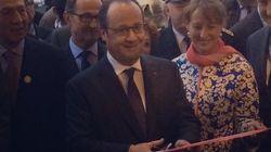 Hollande inaugure la