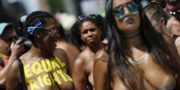 PHOTOS. Topless Day: Des manifestations seins nus partout dans le monde pour l'égalité face au