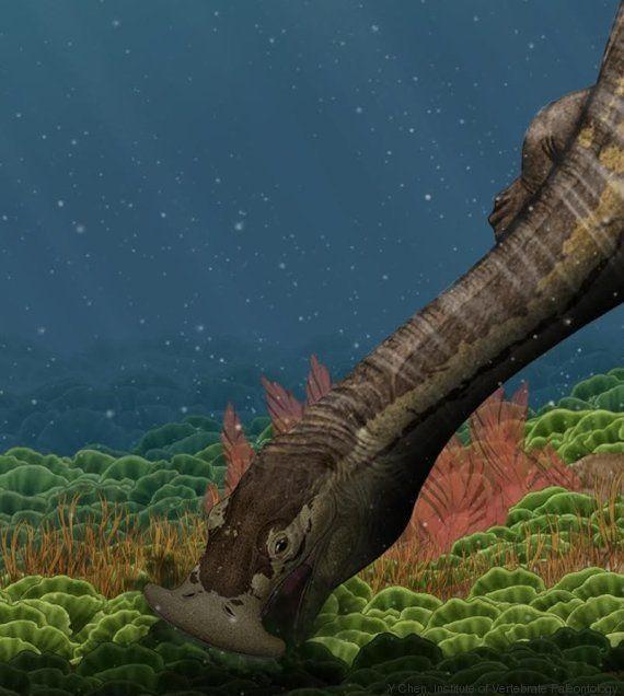 Atopodentatus, le plus vieux reptile marin herbivore, avait une tête en forme