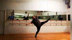 Il n'a pas le physique d'un danseur, mais il est